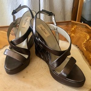 Valentino Gorgeous Leather Wedges